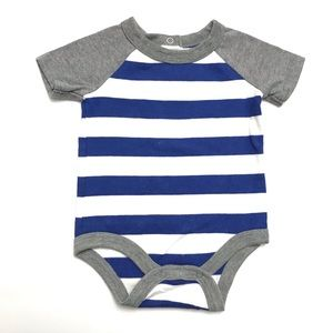 Circo 0-3M Short-Sleeve Striped Onesie Bodysuit